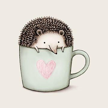 Igel in einer Tasse von SophieCorrigan