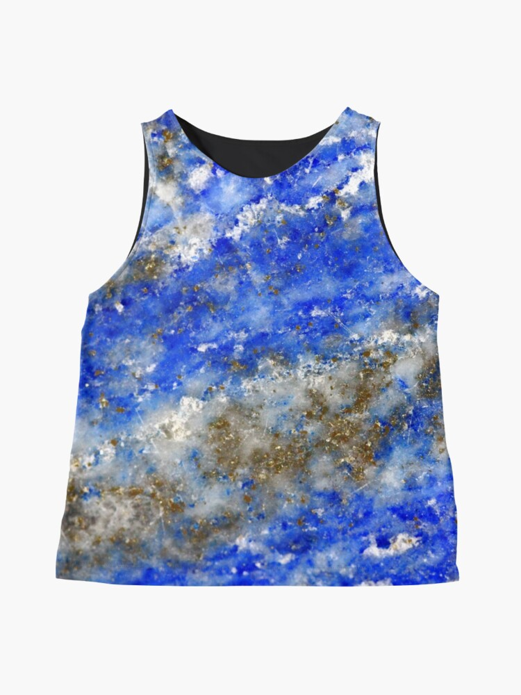 Alternate view of Lapis Lazuli blue and gold abstract geode texture Sleeveless Top