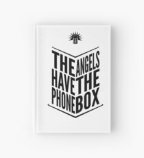 The Angels Have The Phone Box Tribute Poster Black on White Hardcover Journal