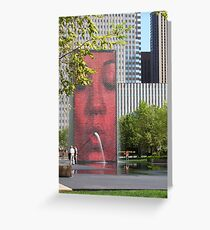 The Crown Fountain Greeting Card