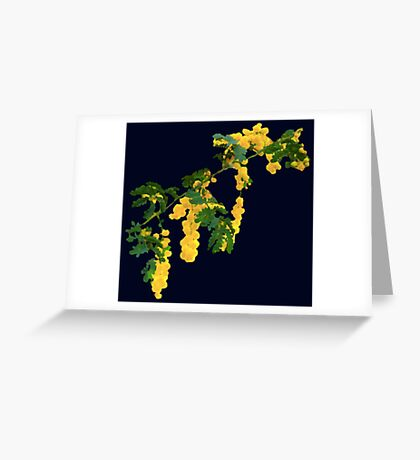 Wattle Fever - Navy Greeting Card