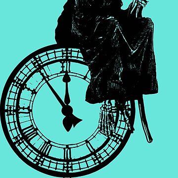 Banksy Grin Reaper Clock by furioso