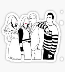 Schitt's creek Netflix Tv show Minimalist deisgn Sticker