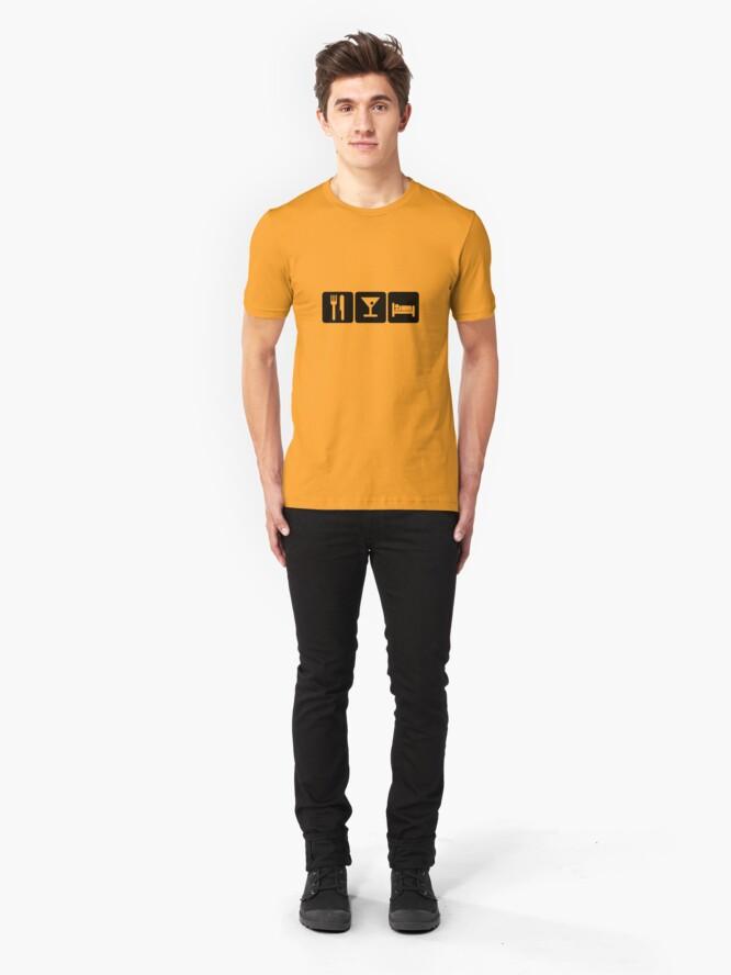 Alternate view of Eat, Drink, Sleep Slim Fit T-Shirt