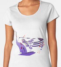 Musique et note Premium Scoop T-Shirt