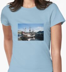 The Golden Hind, Brixham Womens Fitted T-Shirt