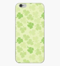 Good luck clovers - a toss of clovers in different hues of green iPhone Case