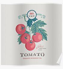 Veg Love Collection No.5 Tomato Poster