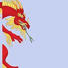 Dragon Hug by redqueenself