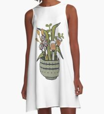 Cheeky Modern Botanical A-Line Dress