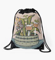 Cheeky Modern Botanical Drawstring Bag