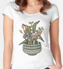 Cheeky Modern Botanical Fitted Scoop T-Shirt