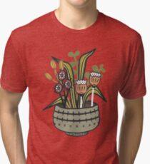 Cheeky Modern Botanical Tri-blend T-Shirt