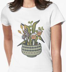 Cheeky Modern Botanical Fitted T-Shirt