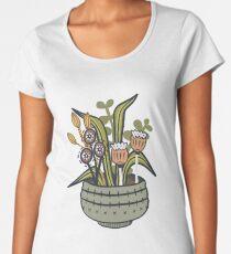 Cheeky Modern Botanical Premium Scoop T-Shirt