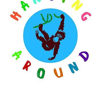 Hanging Around - Monkey by miniverdesigns