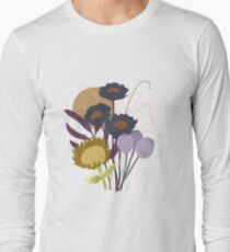 Autumnal Botanical Print Long Sleeve T-Shirt