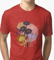 Autumnal Botanical Print Tri-blend T-Shirt