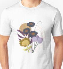 Autumnal Botanical Print Slim Fit T-Shirt
