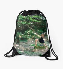 Mari dancing Drawstring Bag