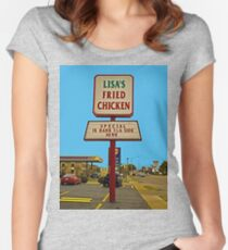 Lisa's Fried Chicken T-Shirt Women's Fitted Scoop T-Shirt