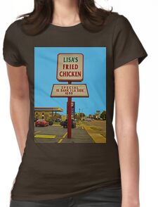 Lisa's Fried Chicken T-Shirt Womens Fitted T-Shirt