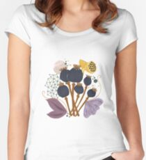 Fall Seed Pod Bouquet Fitted Scoop T-Shirt