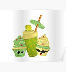 lustige 3D Cupcakes Poster