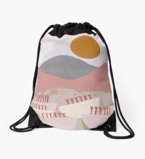 Desert Mountain Sunrise Drawstring Bag