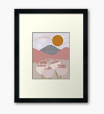 Desert Mountain Sunrise Framed Print