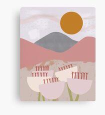 Desert Mountain Sunrise Canvas Print