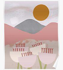 Desert Mountain Sunrise Poster