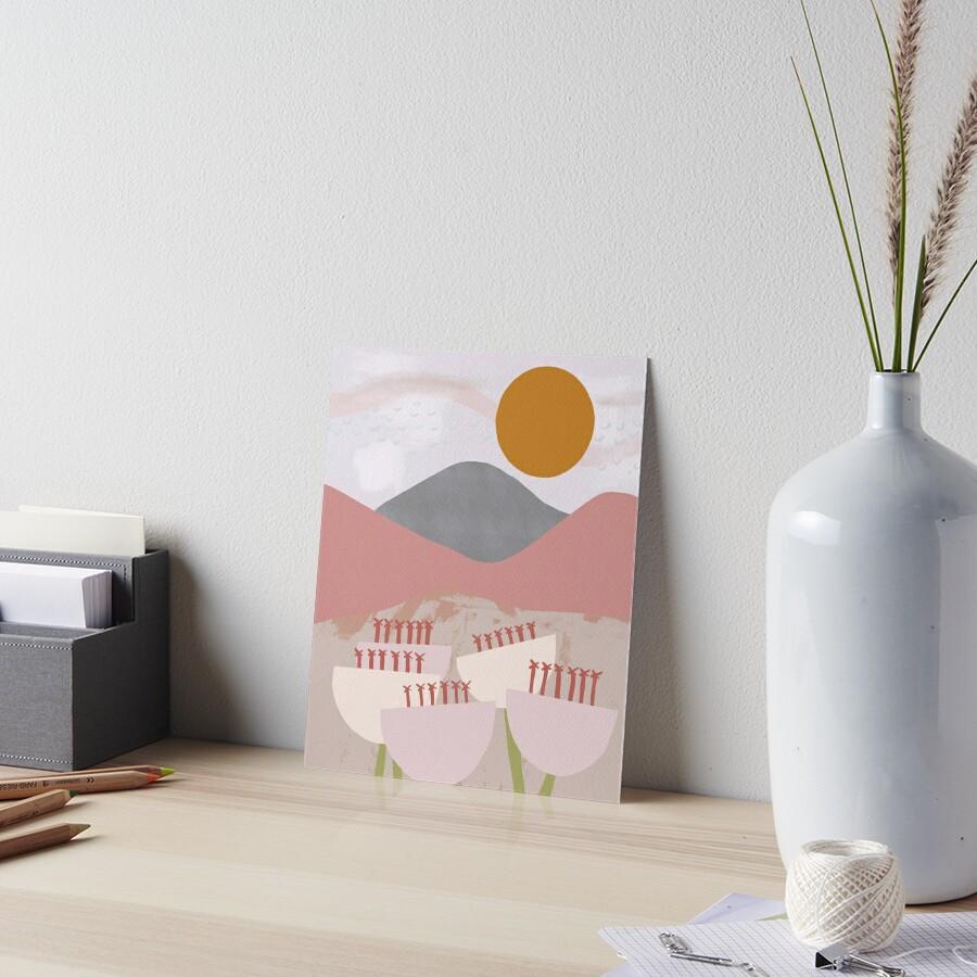 Desert Mountain Sunrise Art Board Print