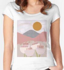 Desert Mountain Sunrise Fitted Scoop T-Shirt