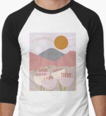 Desert Mountain Sunrise Baseball ¾ Sleeve T-Shirt