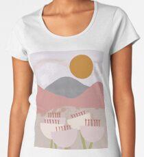Desert Mountain Sunrise Premium Scoop T-Shirt
