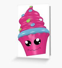 witziger Kawaii Cupcake Grußkarte