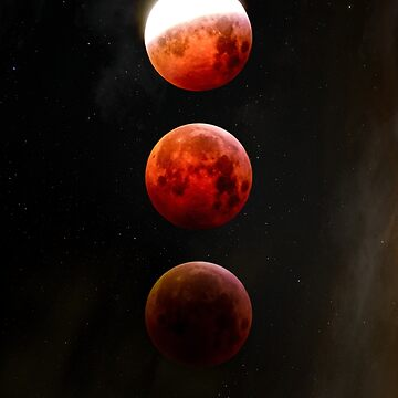 Red Moon - lunar phases by cadinera