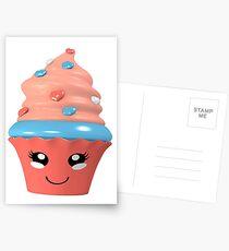 niedlicher Kawaii Cupcake Postkarten