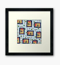 Chique Geometry in Blue Framed Print