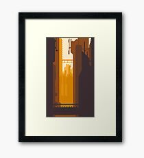 8bit Sunset Framed Print