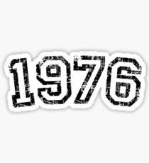 Year 1976 Vintage Birthday Anniversary Sticker
