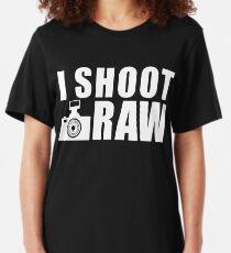 I Shoot Raw Photography Slim Fit T-Shirt