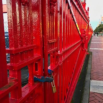 Waterfront Red Fence by urbanfragments