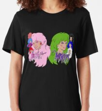 Jem and the Holograms Vs The Misfits Slim Fit T-Shirt