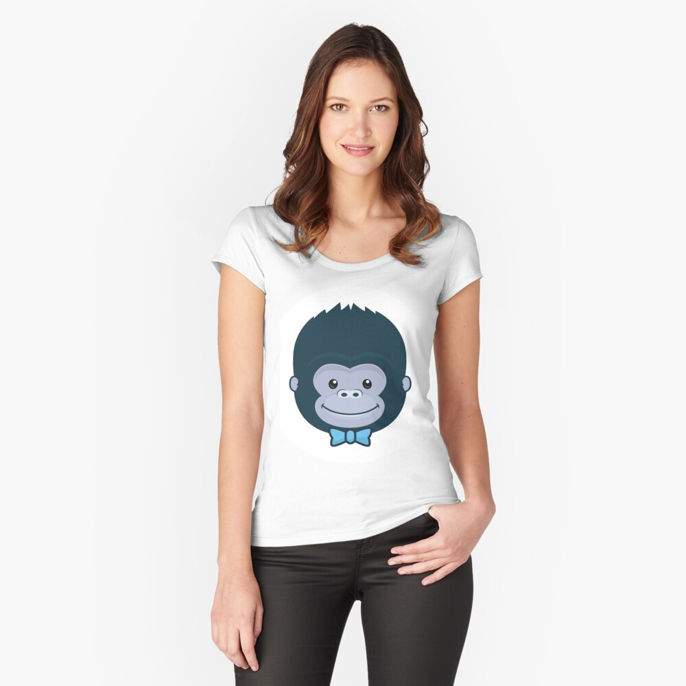 ★ kong Women's Fitted Scoop T-Shirt Front