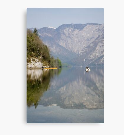 Alpine lake moods Canvas Print