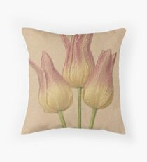 Tulips - colored pencil effect Throw Pillow