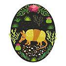 Yellow armadillo by Elsbet