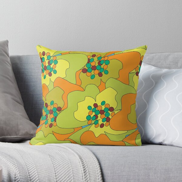 Late Spring Passion Flowers 1 Throw Pillow